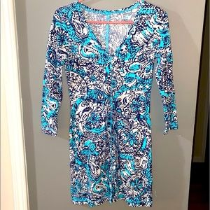NWOT Lilly Pulitzer Juliet Dress Shorely Blue